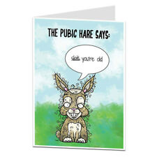 Funny Happy Birthday Card Rude Offensive Age Joke Perfect For 40th 50th 60th