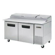 blue air bapp67 two door pizza prep table 67 inches