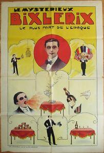 Magic Poster, SUPER 1920 'Le Mysterieux Bixlerix' - Color Litho, Fire Breathing+