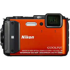 Nikon COOLPIX AW130 16MP Waterproof Digital Camera w/ Wi-Fi (Orange) Refurbished