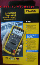 BRAND NEW IN BOX! FLUKE 87V 87-V INDUSTRIAL TRUE-RMS MULTIMETER with TEMPERATURE