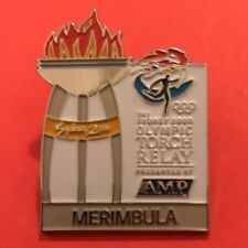 MERIMBULA Sydney 2000 Olympic Torch Relay AMP sponsor pin