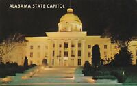 (L)  Montgomery, AL - State Capitol Building - Exterior and Grounds - Night View
