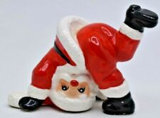 """Fitz & Floyd Tumbling Santa * Hand Painted In Japan * Excellent Condition 2.5"""""""