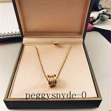 "Bulgari 18k Pink Gold & Diamond BZero1 Pendant Necklace 18"""
