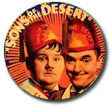 """LAUREL AND HARDY/ SONS OF THE DESERT/ 1""""/ 25 mm COMMEMORATIVE  BUTTON BADGE"""