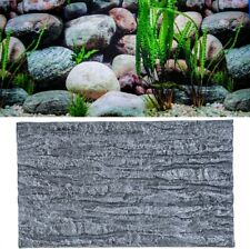 2/4x Aquarium Foam Rock Stone Fish Tank 3D Background Wall Reptile Terrariums #S