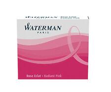 WATERMAN RADIANT PINK  FOUNTAIN PEN  INK CARTRIDGES NEW IN BOX