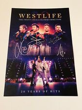 SIGNED/AUTOGRAPHED WESTLIFE - THE TWENTY TOUR LIVE FROM CROKE PARK PRINT/LITHO