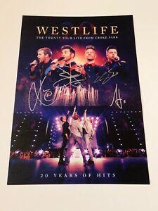 SIGNED/AUTOGRAPHED WESTLIFE - THE TWENTY TOUR LIVE FROM CROKE PARK PRINT/LITHO