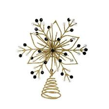 New Mackenzie Childs Gold Gold Snowflake Tree Topper