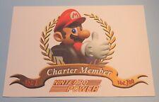 1997 Nintendo Power Magazine Charter Member Certificate #1 - 100 Mario SNES era