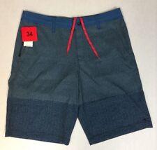 NEW O'Neill Hybrid Men's Flat Front Board Shorts Blue Size 34 Item 942481
