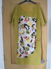 Women's  DAIQUIRI ITALY mustard with silk panel lined shift dress size 10