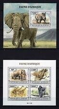 BURUNDI 2013 FAUNE D'AFRIQUE ELEPHANTS RHINOCEROS WILD ANIMAL FAUNA STAMPS MNH**