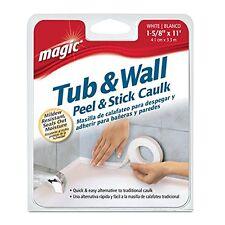 "Magic Tub/Wall Peel & Stick Caulk, White 1-5/8"" x 11"