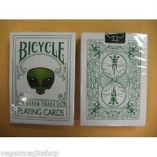 Green Trace Deck Bicycle Playing Cards Poker Size USPCC Alien Head Limited New