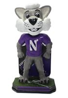 Northwestern WILDCATS Chicago Cubs Bulls Willie Wildcat Mascot Bobblehead #/144