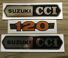 SUZUKI B120 B120M B120P BLOOP SIDE PANEL DECALS X 3