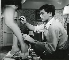 """Actrice Françoise Arnoul avec Alain Delon dans """"Le Chemin des écoliers """", 1959,"""