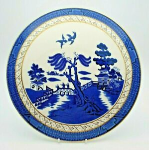 LARGE ROYAL DOULTON BOOTHS REAL OLD WILLOW CAKE PLATTER c.1981 - PERFECT