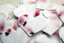 Red Heart Shaped Plantable Flower Seed Recycled Paper Wedding Memorial Favors