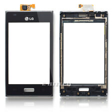 "LG e610 Optimus l5 Nero Digitalizzatore Touch Screen Lente Vetro Pad ""UK"" + Strumenti"