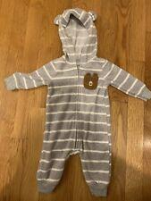 Carters Baby Boy Fleece One Piece Bear Pocket 3 Month