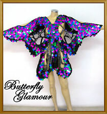 multicolor Sequin Drag Queen butterfly GLAM dance dress