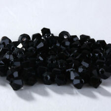 HOT! New 100/1000pcs 4mm Glass Crystal #5301 Bicone beads U Pick colors