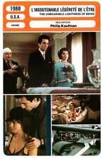 FICHE CINEMA : L'INSOUTENABLE LEGERETE DE L'ETRE - Day-Lewis,Binoche,Olin 1988
