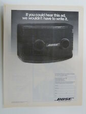 retro magazine advert 1980 BOSE 802