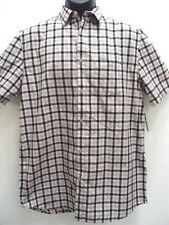 NEW FOX RACING MEN TOBY WOVEN PLAID CASUAL SHIRT LARGE 09641 J-91 RETAIL $49.50