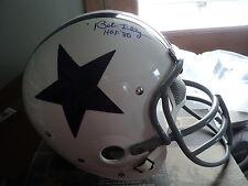 Bob Lilly signed Custom T B Cowboys Full Size helmet, JSA Witness, HOF