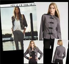 Juicy Couture 'Band Jacket' in Driftwood Gray - Sz XS - Gorgeous Military Style
