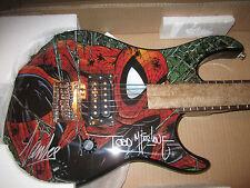 SDCC 2012 Exclusive SIGNED x2 Stan Lee, McFarlane Peavey Spider-Man Guitar +PICS