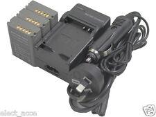 3x BLN-1 BLN1 Battery + Charger for OMD M-5 E-M5 EM5 E-M1 EM1 II PEN F E-P5 EP5