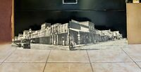 Vintage Store Counter Western Town Advertisement Cardboard, Real Estate Store.