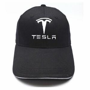 TESLA Logo Embroidered Fashion Baseball Cap Hat Sport For Tesla Car Motor Straps