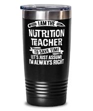 Funny Nutrition Teacher Gift - Nutrition School Instructor Tumbler Mug Black 20o