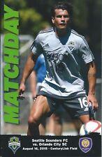 2015 Seattle Sounders vs. Orlando City SC MLS Soccer Program - Nelson Valdez