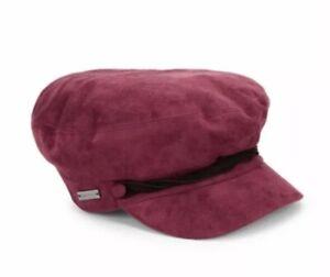 BETMAR New York LIEUTENANT CAP Hat NEWSBOY $39 Women's BORDEAUX RED B1873H NEW