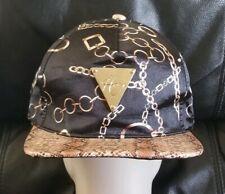 HATer Snakeskin Chain Print Snapback Hat