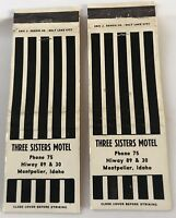 2 Matchbook Covers Three Sisters Motel Hiway 89 & 30 Montpelier ID