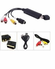 USB VHS To DVD Video Audio Converter Capture Full Scart Kit With Leads & Cables