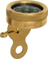 """Marbles Pin On Compass Brass 1"""" Diameter Clip on Clothing Hiking Camping 1141"""