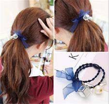 1stk Haargummi Quadrat Seidenband Kugelchen Haarband Mädchen Geburtstag Geschenk