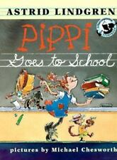 Pippi Goes to School (Pippi Longstocking)-ExLibrary
