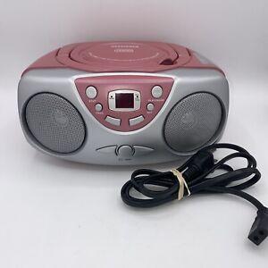 Sylvania SRCD243PL Pink CD Boombox AM/FM Radio FREE SHIPPING
