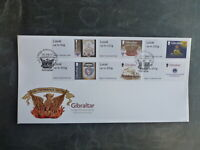 GIBRALTAR 2017  GRAND LODGE ANNIV. SET 6 STAMPS FDC FIRST DAY COVER